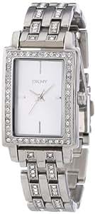 DKNY NY8623 - Reloj analógico de cuarzo para mujer con correa de acero inoxidable, color plateado