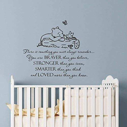 Children Winnie The Pooh Cite Always Remember That You are What You Believe More Courageous Classic Decor from Crib