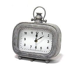Stratton Home Décor Stratton Home Decor Alexander Table Clock, 7.00 W X 2.50 D X 8.00 H, Grey