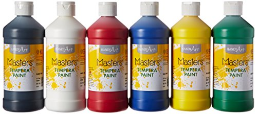 Dry Tempera Paint - Handy Art Little Masters Tempera Paints Set, 16 oz, Pack of 6 .