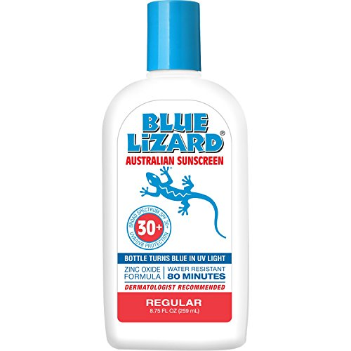 Blue Lizard Regular Mineral Sunscreen with No Chemical Ingredients SPF 30 UVA/UVB Protection, 8.75 oz Bottle