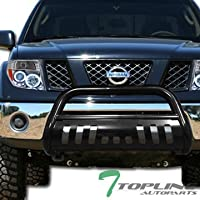 Topline Autopart Black Bull Bar Brush Push Front Bumper...