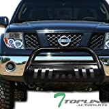 nissan xterra bull bar - Topline Autopart Black Bull Bar Brush Push Front Bumper Grill Grille Guard With Skid Plate For 05-17 Nissan Frontier ; 05-07 Pathfinder ; 05-15 Xterra