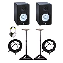 Yamaha HS5 Powered Monitor Speakers + Stands + Fostex T-7 Headphones & Cables