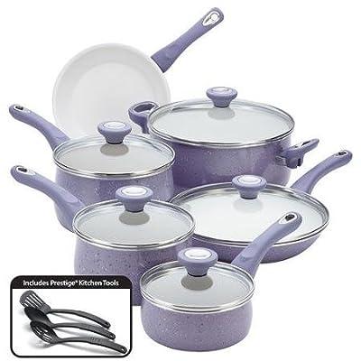 Farberware Ceramic Cookware Speckled Nonstick 14-Piece Cookware Set