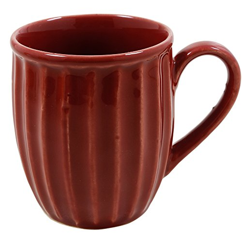 Store Indya Handcrafted Ceramic Tea Coffee Mug Studio Pottery Cup Kitchen Serveware Accessories (Maroon) (Cup Saucer Giant Coffee And)