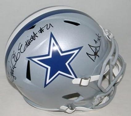 1e644bd72b5 Image Unavailable. Image not available for. Color: Ezekiel Elliott & Dak  Prescott Signed Autographed Dallas Cowboys Full Size Speed Helmet ...