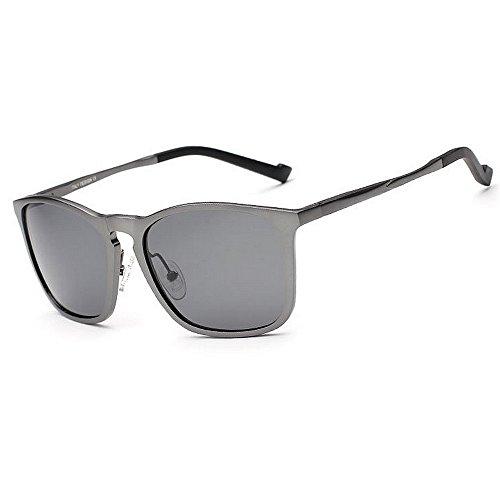 Marco Aviator para Sol Color UV Hombre Gray 400 SunglassesMAN de de Brown Protección polarizadas Yxsd Gafas qng8T