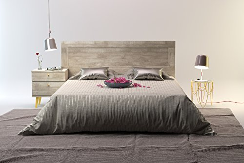 Kevin Marbella Mid-Century Queen Bed with Headboard