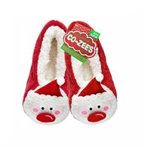 Cozee - Zapatillas de estar por casa de poliéster para mujer Father Christmas