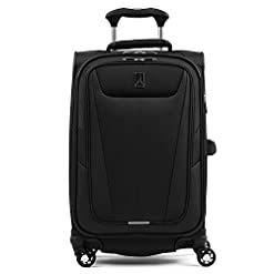 WMB Travel Pro 41eauZhm3FL._SS247_ Travelpro Maxlite 5-Softside Expandable Spinner Wheel Luggage, Black, Carry-On 21-Inch