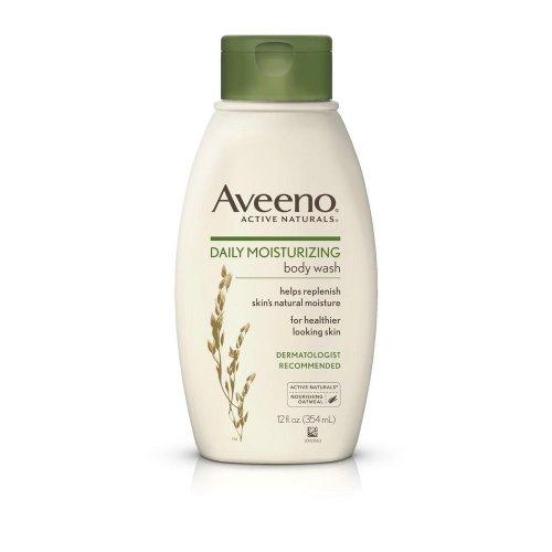 Aveeno Daily Moisturizing Body Wash, 12 Ounce (Pack of 4) by Aveeno