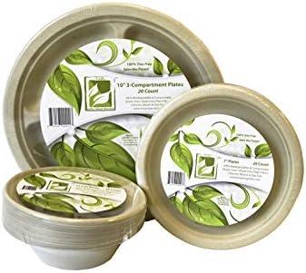 Earth's Natural Alternative Eco-Friendly, Natural Compostable Plant Fiber 11.5 oz. Bowl, Natural, 1000 Count