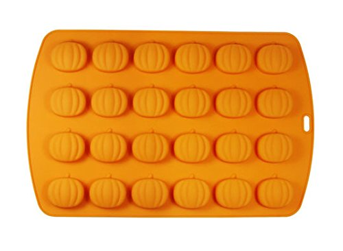 Fall Pumpkin Silicone Baking Mold, 24 Pumpkins - Used for Muffin Cups, Ice Cube, Soap, Cake, Bread, Pudding, Candy, Jello Shots and More! by Celebrate It