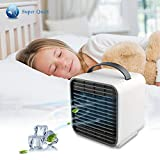 Personal Air Coolers Portable Air Conditioner Fan Personal Space Cooler Desktop USB Rechargeable Quiet Fans for Bedroom Evaporative Cooler Air Circulator Purifier Fan for Home Office Nightstand