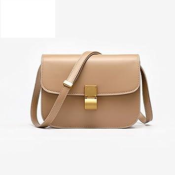 Burenqi@ Tofu bolsa/bolso producto estrella simple retro cuadrado pequeño bolso de hombro bolsa