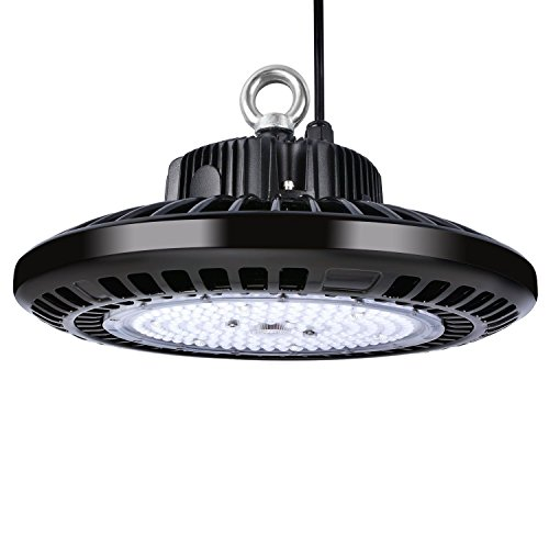 LUMIEREHOLIC 200W UFO LED High Bay Light, Replacement for 800W HID/HPS Bulb, Daylight White SMD 3030, LED Warehouse Barn Factory Garage Commercial Shopping Mall Lighting 5000K