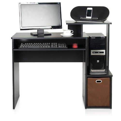 FurinnoEcon Multipurpose Home Office Computer Writing Desk with Bin