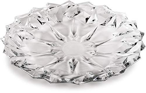 Circleware 57254 Montage Glass Plate Serving Dish Platter