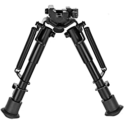 CVLIFE 6- 9 Inches Tactical Rifle Bipod Adjustable Spring Return with Quick Release Adapter