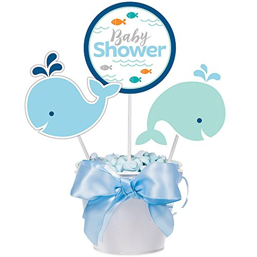 Blue Whale Baby Shower Decorative Sticks (3 ct)