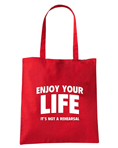 YOUR LIFE NOT IT S Borsa ENJOY0098 Shopper ENJOY Rossa xqCzIBn