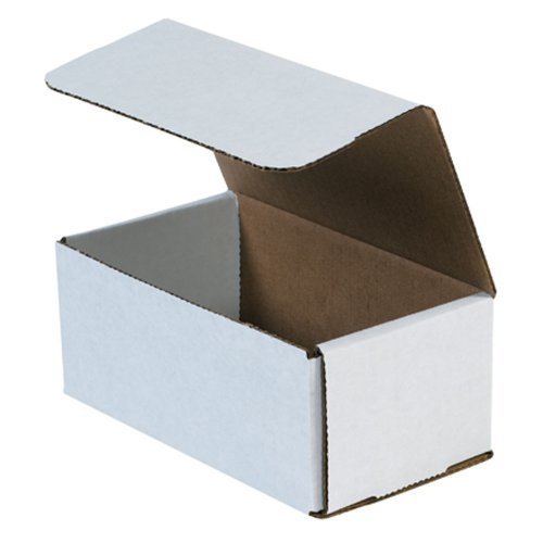 """Aviditi M743 Corrugated Mailer, 7"""" Length x 4"""" Width x 3"""" Height, Oyster White (Bundle of 50)"""