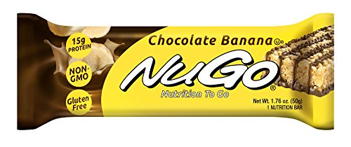 NuGo Protein Bar, Chocolate Banana, 1.76-Ounce Bars (Pack of 15)