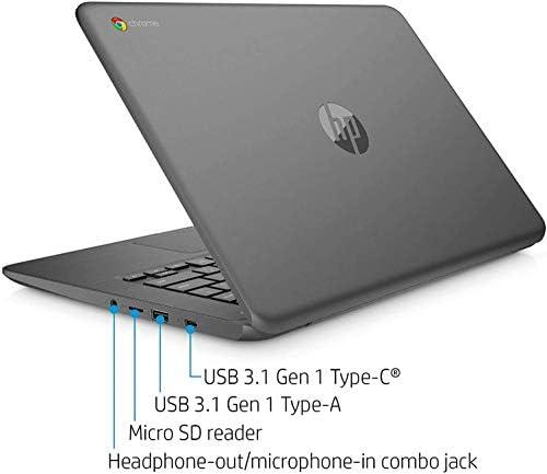 2021 HP Chromebook 14-inch Touchscreen Laptop Computer, Intel Celeron N3350, 4 GB RAM, 160GB Space(32 GB eMMC+128GB MicroSD), Chrome OS, WiFi, Webcam, USB Type-C, Bluetooth, 10 Hrs Battery+AlleFlex MP