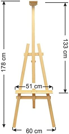 Yorking Staffelei Atelierstaffelei Standstaffelei Dreifuss Stand Buchen Holz
