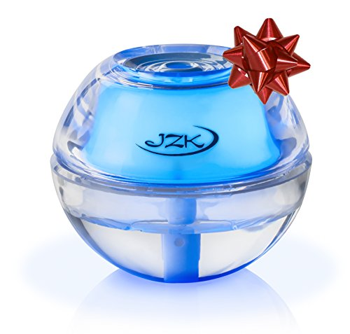 Air Humidifier Cool Mist Portable Personal Blue 24+ Hours by JZK for Sleep, Dry Sinuses, Eyes, Nose, Throat, Sinus Infection | Best Quiet Diffuser with Night Light, Auto Shut-off, USB, Adapter, Filter