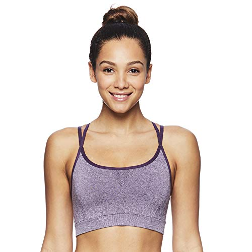 - Reebok Women's Medium Impact Butterfly Strap Sports Bra with Removable Cups