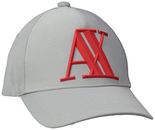 A X Armani Exchange Men's A X Logo Hat, Alloy Grey, One Size