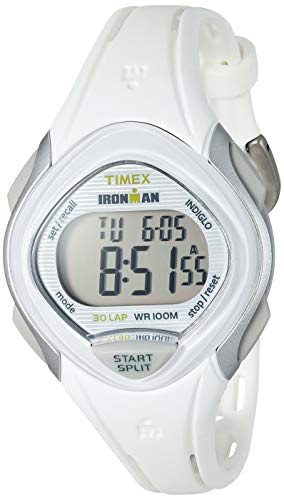 Timex Women's TW5M12400 Ironman Sleek 30 White Resin Strap Watch (White Resin Strap)