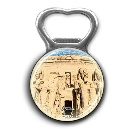 - Abu Simbel Temples Aswan Egypt Bottle Openers Metal Fridge Magnet Crystal Glass Round Beer Bottle Opener City Souvenir Home Kitchen Decoration Gifts
