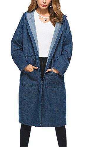 Outwear Oscuro Casual Punto Mujer Invierno Jersey Chaqueta De Larga Abrigo Cardigans  Yogly Azul Suelta Manga P6nqCpW 5730e3450dd6
