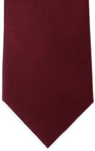Wine Plain Twill Silk Tie by Michelsons of London