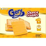 Gery Cheese Crackers Biscuit Crispy Cookie Snack with Sugar and Cheese Topped Filled (Box of 20 sachets, 1 cracker per sachet)