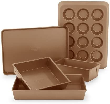 KitchenAid profesional antiadherente – bandeja para el horno (5 piezas) kb2nss05wt: Amazon.es: Hogar
