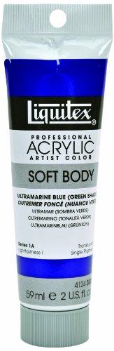 Liquitex Professional Soft Body Acrylic Paint 2-oz tube, Ultramarine Blue (Green - Ultramarine Blue Shade