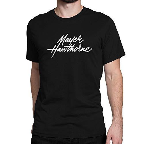 JIANGMUYA Men's Mayer Hawthorne White Logo T-Shirt Large