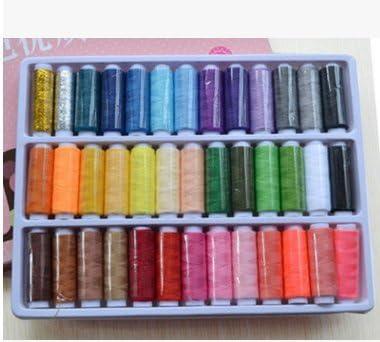 TechSmile costurero de bobina de hilo de coser (39 Color surtidos ...