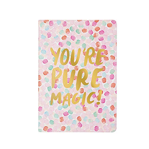 Thimblepress Flexible Journal, 256 Lined Pages, Gilt Edge, 6-x-8-inch, You're Pure Magic