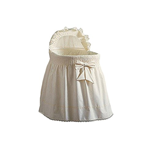 BabyDoll Embossed Damask Creation Liner/Skirt & Hood, Ecru, 17'' x 31''