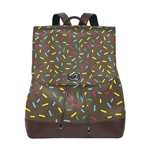 - Russe leather backpack Black Glazed Donuts Work/Travel/Leisure/school bag