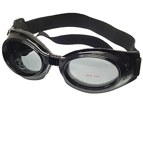 Doggles Large ILS, Black Frame with Smoke Lens by Doggles