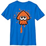Nintendo Little Boys Splatoon Orange Team Graphic T-shirt, Royal, YS
