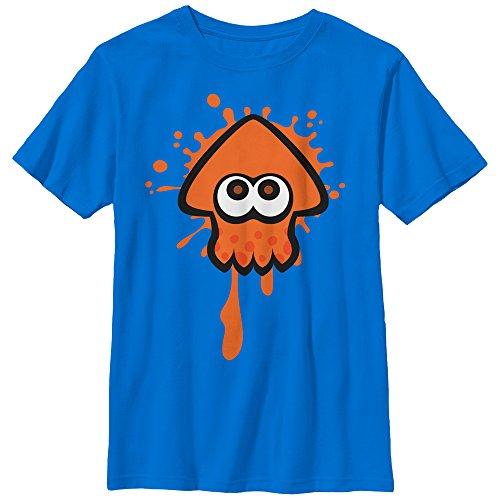 Nintendo Little Boys Splatoon Orange Team Graphic T-shirt, Royal, YM