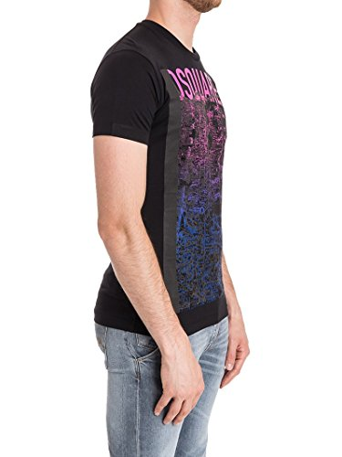 Dsquared2 Herren S74GD0303S22844900 Schwarz Baumwolle T-Shirt