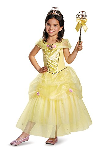 Belle Prestige Disney Princess Beauty & The Beast Costume, Small/4-6X (Classic Costume Belle Child)